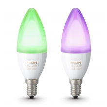 SADA 2x LED RGB Stmievateľná žiarovka Philips HUE WHITE AND COLOR AMBIANCE E14/6W/230V