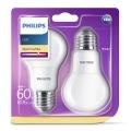 SADA 2x LED žiarovka Philips E27/8W/230V 2700K