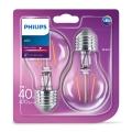 SADA 2x LED Žiarovka VINTAGE Philips E27/4W/230V 2700K
