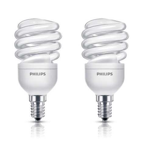 SADA 2x úsporná žiarovka E14/12W/230V 741 lm - Philips 8718291775218