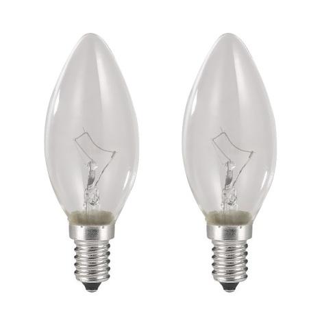 SADA 2x žiarovka E14/40W/230V sviečka