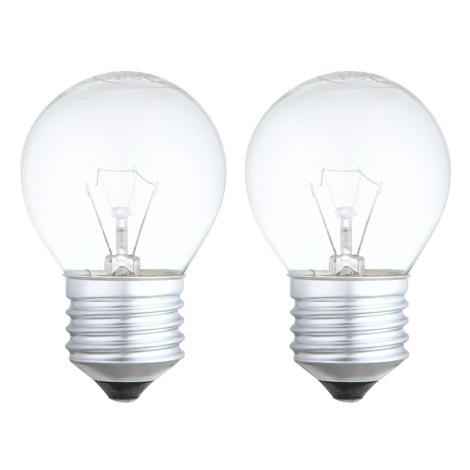 SADA 2x žiarovka E27/40W/230V