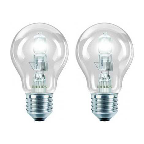 SADA 2x Žiarovka Philips E27/42W/230V ECO CLASSIC