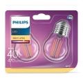 SADA 2xLED Žiarovka VINTAGE E27/4W/230V 2700K - Philips
