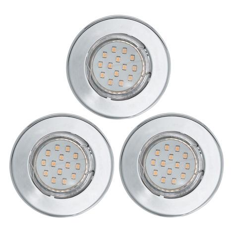 SADA 3x LED podhľadové svietidlo IGOA 1xGU10/3W/230V chróm lesk