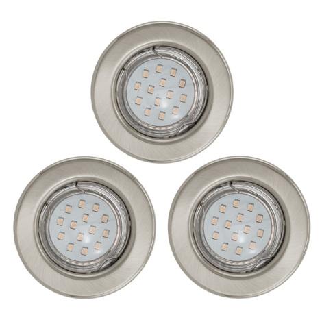 SADA 3x LED podhľadové svietidlo IGOA 1xGU10/3W/230V chróm mat