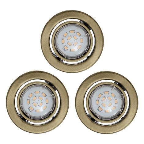 SADA 3x LED podhľadové svietidlo IGOA 1xGU10/5W/230V bronz