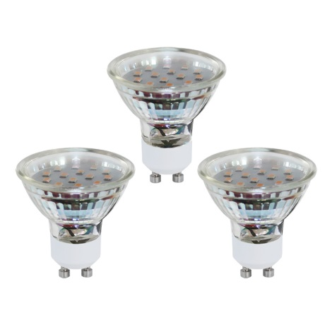 SADA 3x LED žiarovka GU10/3W/230V - EGLO 10699