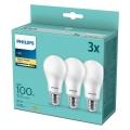 SADA 3x LED Žiarovka Philips A67 E27/14W/230V 2700K
