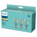 SADA 3x LED Žiarovka VINTAGE Philips A60 E27/7W/230V 2700K