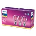 SADA 3x LED Žiarovka VINTAGE Philips E27/4,3W/230V 2700K