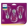 SADA 3x LED Žiarovka VINTAGE Philips E27/4,3W/230V