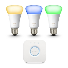 SADA 3x stmievateľná žiarovka Philips HUE WHITE AND COLOR AMBIANCE 3xE27/10W/230V - 8718696592946