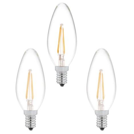 SADA 3x žiarovka 3xE14/2W/230V