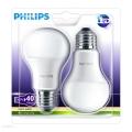 SET 2x LED Žiarovka Philips E27/6W/230V 2700K
