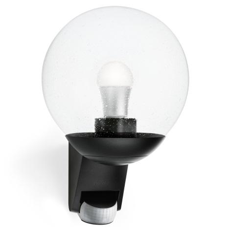 STEINEL 005535 - Vonkajšie nástenné senzorové svietidlo L585S 1xE27/60W čierna