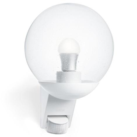 STEINEL 005917 - Vonkajšie nástenné senzorové svietidlo L585S 1xE27/60W biela