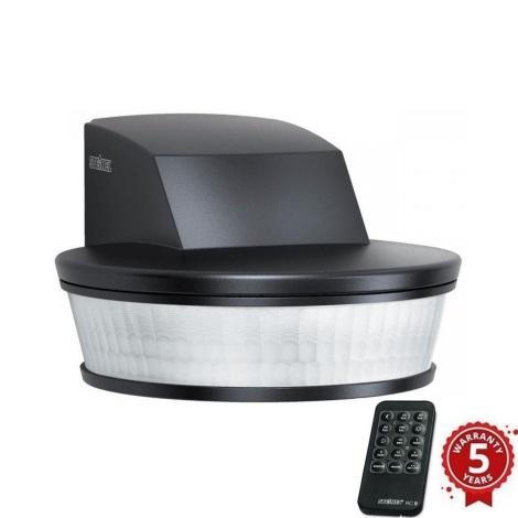 STEINEL 034979 - Vonkajší senzor pohybu SenslQ čierna IP54