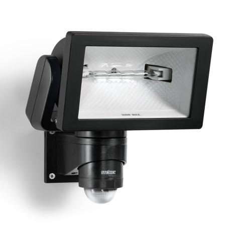 STEINEL 633219 - HS 300 DUO čierny senzorový reflektor pre vonkajšie použitie