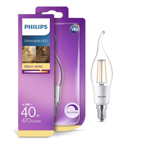 Stmievateľná LED žiarovka Philips BA35 E14/5W/230V 2700K