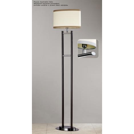Stojací lampa IKAR IAP s 1xE27/60W strieborná