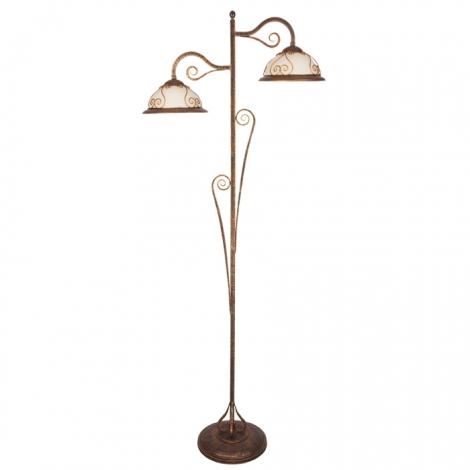 Stojací lampa VERDA VE/LS 2xE27/60W bronz