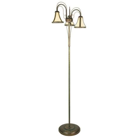 Stojacia lampa TANAJA T/LS/3 3xE14/60W zelená/zlatá