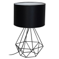 Stolná lampa BASKET 1xE27/60W/230V čierna