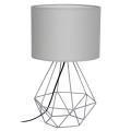 Stolná lampa BASKET 1xE27/60W/230V šedá