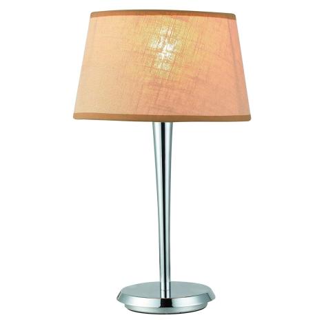 Stolná lampa COMBO béžová/chróm