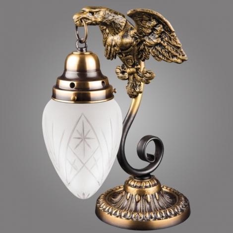 Stolná lampa OURO EAGLE LSA 25/M/P 1xE27/60W