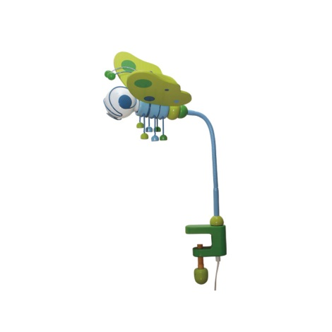 Stolné svietidlo MOTÝL modrá/zelená