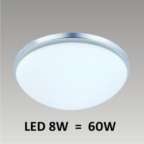 Stropné LED svietidlo PERI 1xLED/8W chróm
