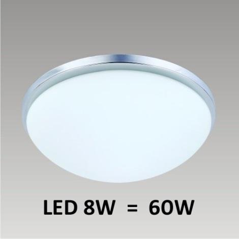 Stropné LED svietidlo PERI 1xLED/8W matný nikel