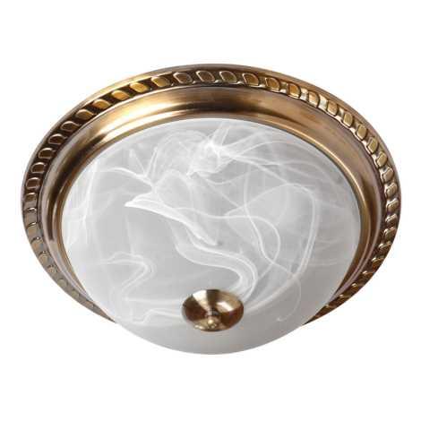 Stropné svietidlo 2xE27/60W bronz/alabaster