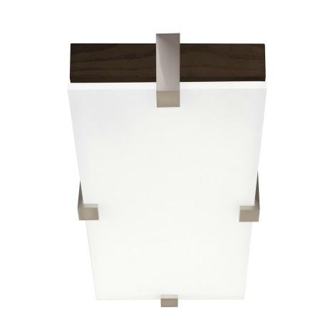 Stropné svietidlo KWADRO 1xG23/11W/230V tmavý dub/biela