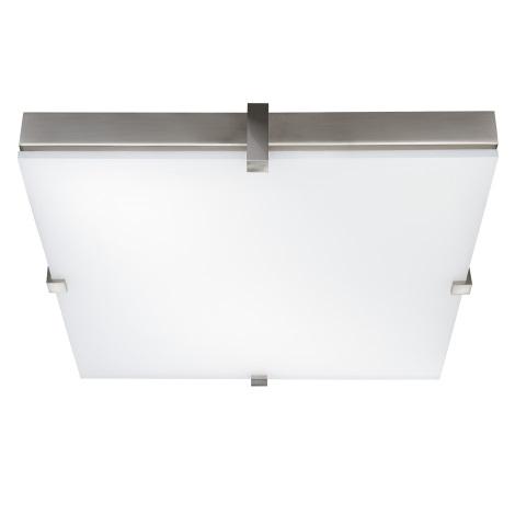 Stropné svietidlo KWADRO 4xG23/9W/230V matný chróm/biela
