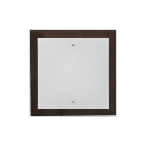 Stropné svietidlo OSAKA SQUARE wenge S - 2xE27/60W/230V