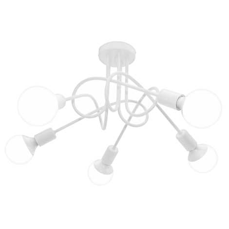 Stropné svietidlo OXFORD 5xE27/60W/230V biela