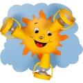 Stropné svietidlo SUN 3XE14/40W/230V