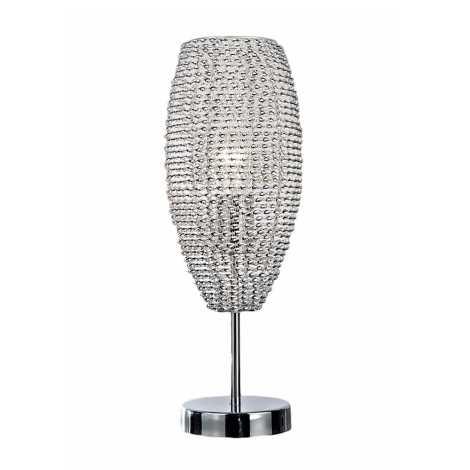 Top Light Davos L - Stolná lampa DAVOS 1xE27/60W/230V chróm