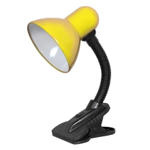 Top Light - Lampa so štipcom 1xE27/60W/230V žltá