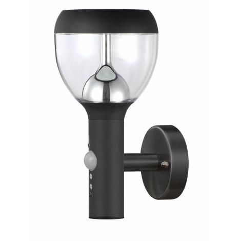 TOP LIGHT - LED vonkajšie nástenné svietidlo s čidlom SONDRIO LED/10,5W/230V