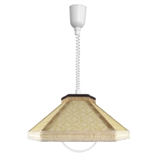 TOP LIGHT Luster - RUSTIKA/H/T E27/60W textil, plast