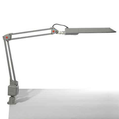 Top Light - Stolná lampa OFFICE 1x2G7/11W/230V strieborná