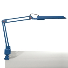 Top Light - Stolná lampa OFFICE 1xG23/11W/230V modrá