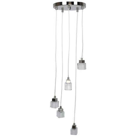 TOP LIGHT - Závesné svietidlo VELENCE 5xG9/40W/230V opálové sklo