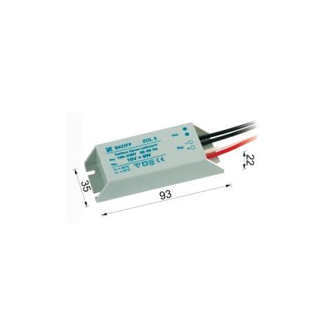 Transformátor pre LED svietidlá (TANGO, RUEDA) ZOL 6/10V-6W