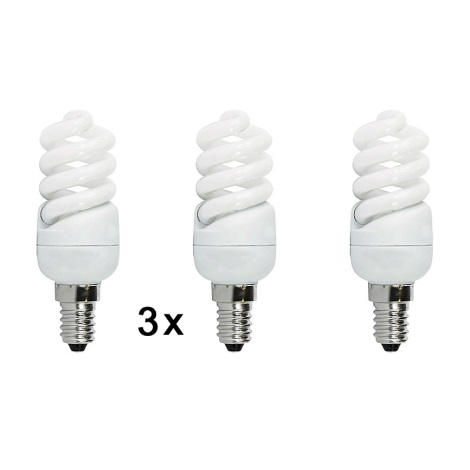 Úsporná žiarovka E14/9W 2700k sada 3 žárovek