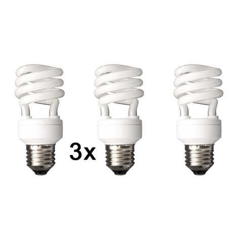 Úsporná žiarovka E27/15W 2700k sada 3 žárovek